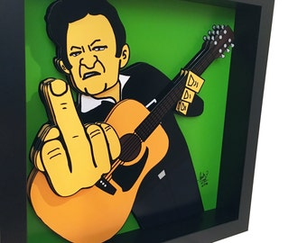 Johnny Cash Print 3D Art Memphis Country Music 3D Pop Art Johnny Cash Poster