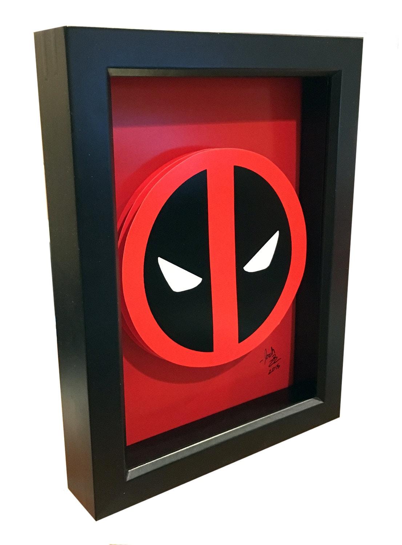 deadpool logo 3d pop art comic artwork symbol. Black Bedroom Furniture Sets. Home Design Ideas