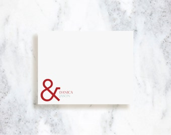 Personalized Couples Note Card Set | Ampersand | Stationery Set