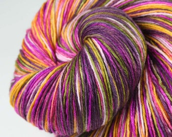 SEPTEMBER IRIS Superwash Merino Light Fingering Weight Yarn for socks and shawls - 822 yds
