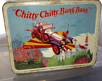 1968 Dick Van Dyke Chitty Chitty Bang Bang movie thermos industries metal lunch box lunchbox