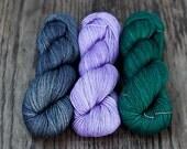 Cashmere Sock - MKAL Shawl Kit - Colour Adventures (fibers: merino, cashmere, nylon)
