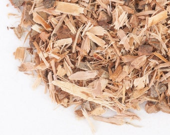 1 ounce Premium Dried White Willow Bark  -- certified organic -- lunar rites, divination