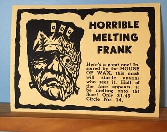 Horrible Melting Frank Screen Print