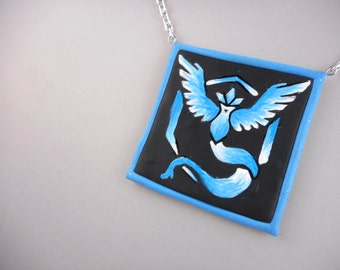 Hand Painted Team Mystic Necklace