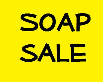 Soap Sale Buy four bars for ten dollars with this listing.