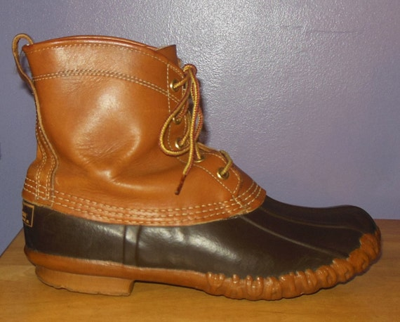 Model Womenu0026#39;s LL Bean Duck Boots / Maine Hunting By RabbitHouseVintage