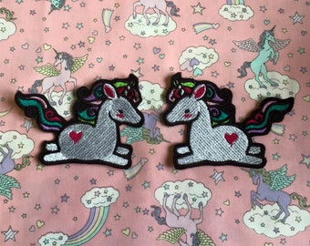 Cute chubby unicorn sew on or iron on patch