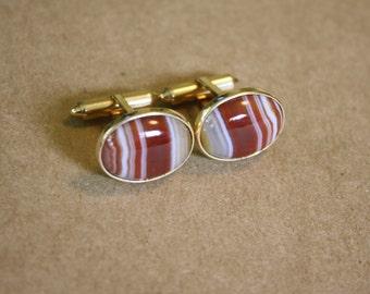 Krementz Gold Stone Cuff links