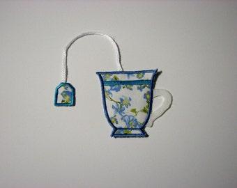 Bookmark Fabric Teacup