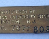 Vintage Princeton University Luggage Tag or Key Chain