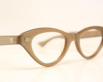 Unused Vintage  Cat Eye Glasses Authentic 1960's Frames
