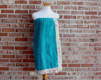 Towel Wraps Adult and Child; no monogram, circle, or applique