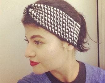 Crochet Headband- Striped Turban Style Headband