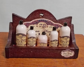 Dollhouse miniature Small Filled Elixir Hemlock Poison Display