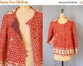 30%OFF 1970s Jacket / Indian Cotton Jacket / 70s