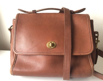 British Tan Coach Crossbody bag