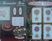 RosyThe Romantic Rose by Studio Seven  & Seasonal Topiaries by  Symbol of Excellence #2292, #235 – 2 Cross Stitch Charts