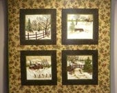 Northwoods Meadow quilted wallhanging