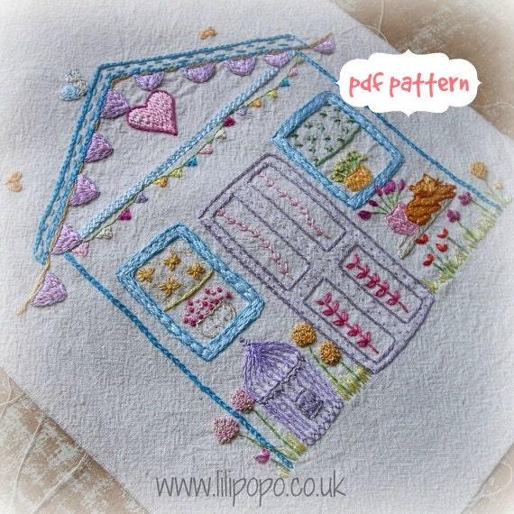 My Wonky Shed Embroidery Pattern Pdf By LiliPopo On Etsy