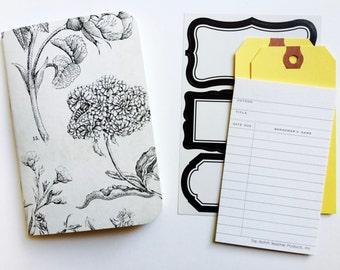 Black + White Floral, Field Notes Inserts, Travelers Notebook, Midori Refill, Travel Journal, Midori, Planner Insert, TN Inserts, Foxydori