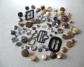 Metal and Plastic Buttons for Sewing, Collage, Steampunk, Crafting, Mixed Media, Metal, Abstract, Parts, Supplies