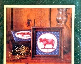 Weather Vane Cow Needlepoint Kit – Sunset Kit No. 5516