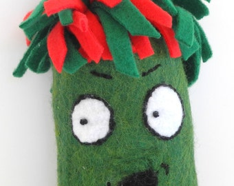 Plush Monster-Collectible-Home Decor-Red-Green