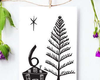 Printable Advent Calendar - Countdown to Christmas - DIY Advent - DIY Christmas Decor - Christmas Cards, Instant Download
