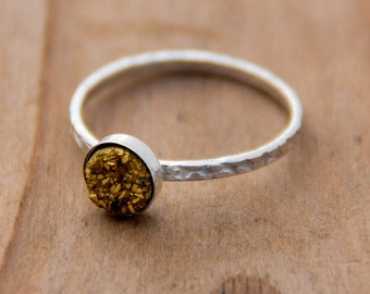 Silver Druzy Ring, Stacking Rings, Druzy Stone Streling Silver Rings, Modern Jewelry, BOHO, Trending, Druzy Ring Silver, Statement Rings