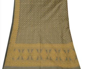 Vintage Shawl/Stole. Regency Style. Charcoal Grey 'Art' Silk woven brocade