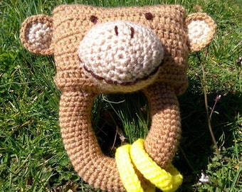 Crochet Monkey Baby Toy