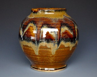 Sunset Pottery Vase Stoneware Flower Vase Handmade Ceramic Vase Pottery B