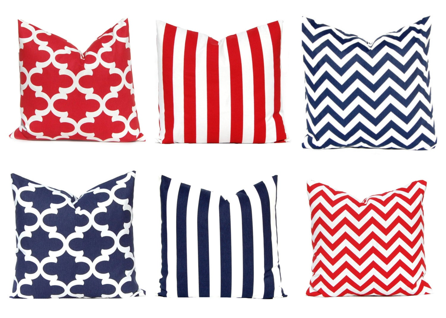 Red And White Throw Pillow Covers : One Throw Pillow Cover Red White and Blue Red Pillow