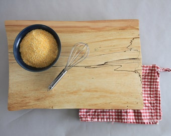 Rustic Polenta Board // Hard Wood // Spalted Maple // Serving Tray // Large Footed Platte