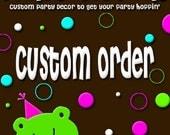 Reserved Custom Order for denissesdiaz14 - Elephant Baby Shower