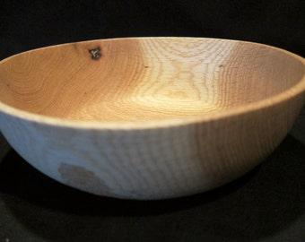 Oak wood bowl
