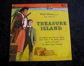 1969 Walt Disney Treasure Island 1964Vintage Vinyl lp Disneyland Records DQ-1251  Album Pirates Treasure