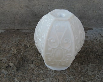 vintage milkglass ceiling light shade glass light shade hanging light shade grannie chic pendant lamp shade cottage