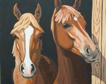 Brothers - Original Acrylic Painting