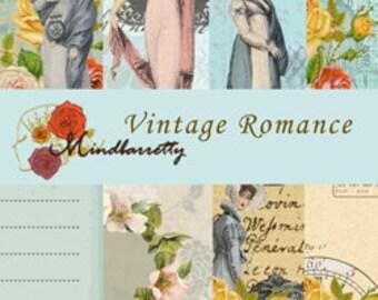 Vintage Romance printable (Digital paper)