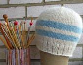Baby Alpaca All Natural Vintage Looking Cap with Flower  Gift Under 35 dollars