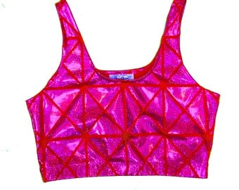 Pink Disco Sporty Bra