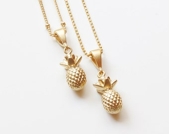 Pineapple Necklace | Gold Pineapple Necklace |  Pineapple Pendant Necklace | Tropical Necklace | Layering Necklace