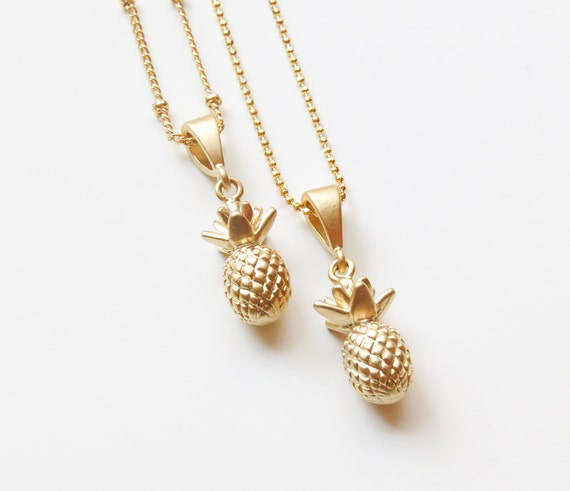Pineapple Necklace Gold Pineapple Necklace Pineapple