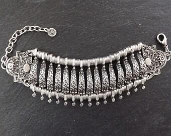 Tribal Cage Ethnic Statement Bracelet Cuff - Authentic Turkish Style