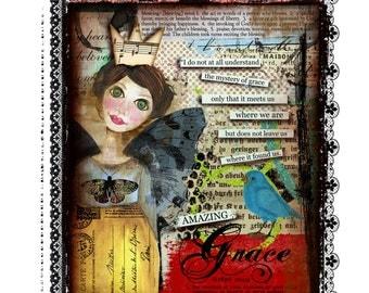 Grace Angel Handmade Loose Canvas.