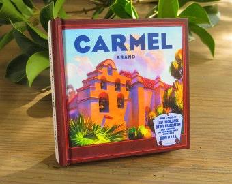 Small Journal - Carmel Brand Citrus - Fruit Crate Art Print Cover