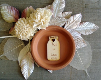 50 Mason Jar Wedding favors Personalized Wood Cut out Mason Jar Favor