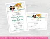 Mexican Wedding Invitations and RSVP Cards – Set of 10 - Create a Cartoon You!